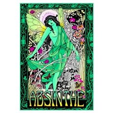 Absinthe Green Fairy Canvas Art