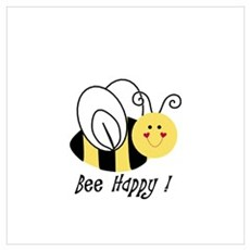 Bee Happy Poster