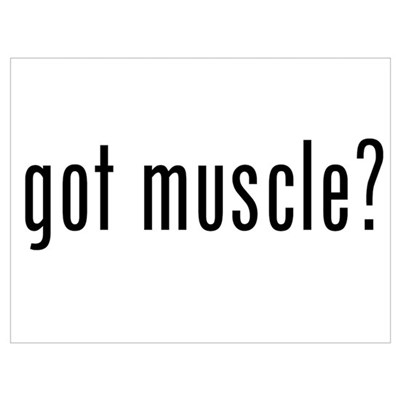 got muscle? Poster