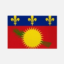 Guadeloupe Flag Rectangle Magnet