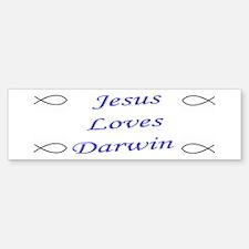 Jesus & Darwin Bumper Bumper Bumper Sticker