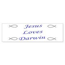 Jesus & Darwin Bumper Bumper Sticker