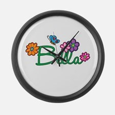 Bella Flowers Large Wall Clock