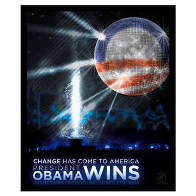 "Obama Victory (19""x16"") Poster"