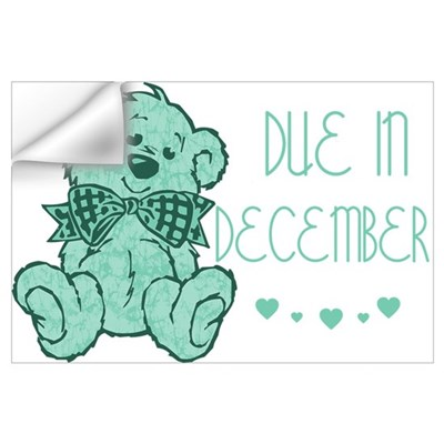 Green Marble Teddy Due December Wall Decal