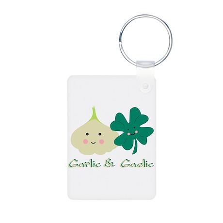 Garlic & Gaelic Aluminum Photo Keychain