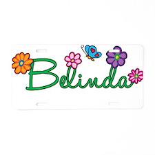 Belinda Flowers Aluminum License Plate