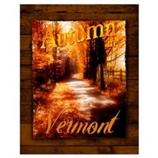 Autumn in Vermont Poster