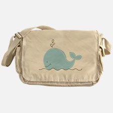 Little Blue Whale Messenger Bag