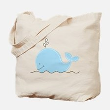 Little Blue Whale Tote Bag