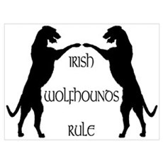 Irish Wolfhounds Rule Framed Print