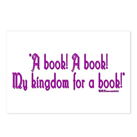 """A book! A book! My kingdom for a book!"" Postcards"