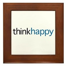 Think Happy Framed Tile