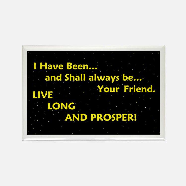 Live long and prosper Rectangle Magnet