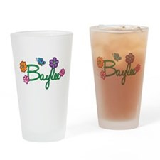 Baylee Flowers Drinking Glass