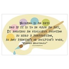 Nursing is an Art Poster