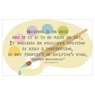 Nursing is an Art Poster
