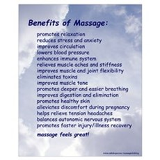 Benefits Of Massage 16X20 Blue Canvas Art