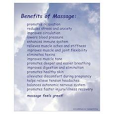 Benefits Of Massage 16X20 Blue Poster