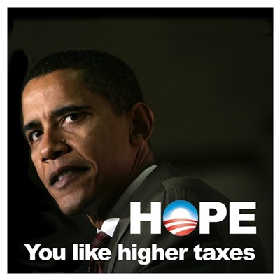Obama Hope Higher Taxes Canvas Art