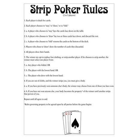 Strip poker rule