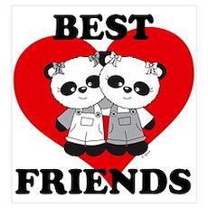 Best Friend Panda Bear Hug Poster