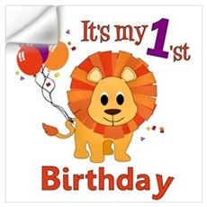 1st Birthday Lion Wall Decal
