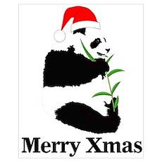 Merry Xmas Panda Poster