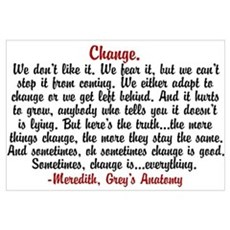 Change Quote Framed Print