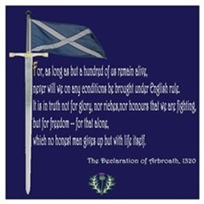 Declaration Of Arbroath Poster