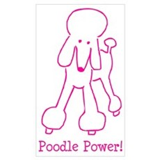 Poodle Power Poster