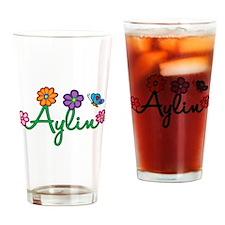 Aylin Flowers Drinking Glass