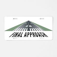 Aviation Final Approach Aluminum License Plate