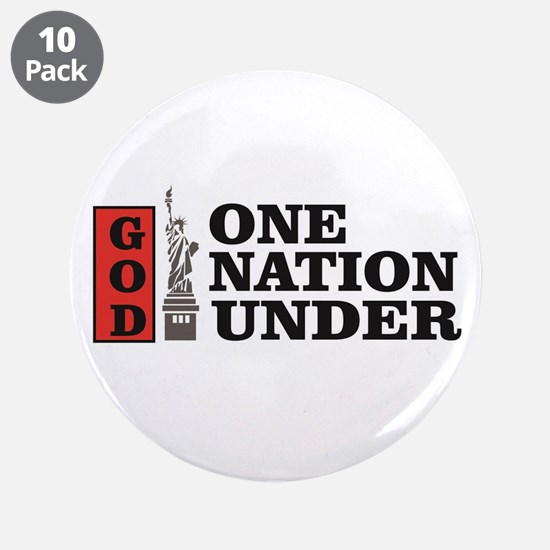 """one nation under god liberty 3.5"""" Button (10 pack)"""