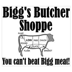 Bigg's Butcher Shop Framed Print
