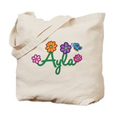 Ayla Flowers Tote Bag