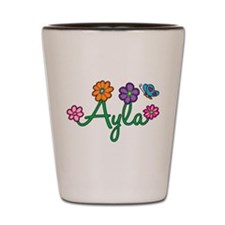 Ayla Flowers Shot Glass
