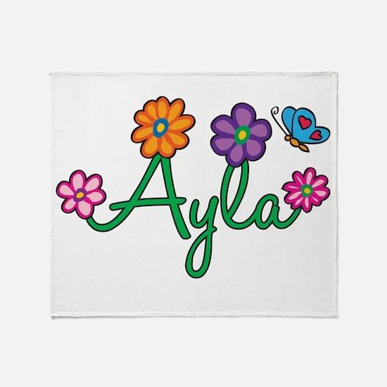 Ayla Flowers Throw Blanket