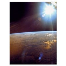 Earth from Apollo 11 Space Print gift Framed Print