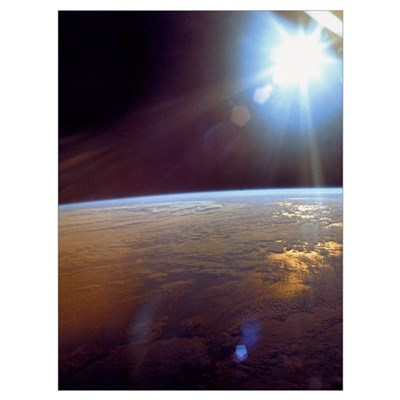 Earth from Apollo 11 Space Print gift Poster
