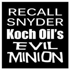 Recall Governor Rick Snyder Poster