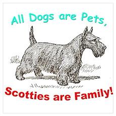 Scotties Scottish Terrier Poster