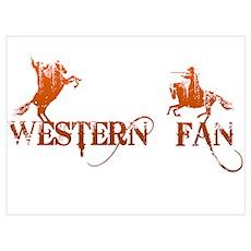 Western Fan Poster