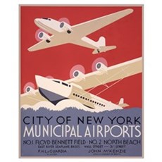 Seaplanes and Airplanes Poster