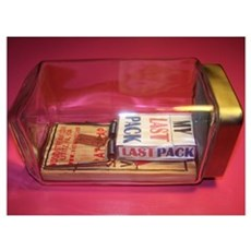 MY LAST PACK of CIGARETTES Framed Print