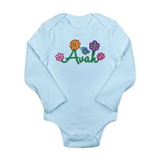 Avah Flowers Long Sleeve Infant Bodysuit