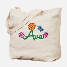 Ava Flowers Tote Bag