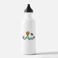 Ava Flowers Water Bottle