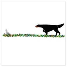 Gordon Setter in the Field II Poster
