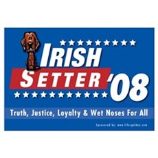 Irish Setter for President Canvas Art